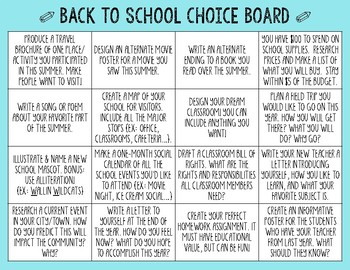 Multidisciplinary Anchor Activity Choice Board BUNDLE