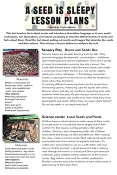 Multidisciplinary Lessons Based on the Story: A Seed is Sleepy
