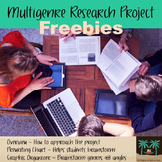 Multigenre Research Project Prewriting, Graphic Organizer, and Overview