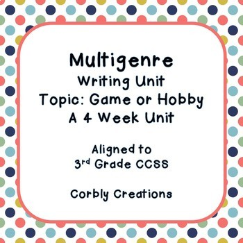 Multigenre Writing Unit-Hobby or Game