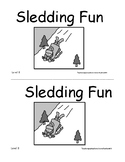 Multilevel Guided Reading Book:  Sledding Fun Levels A and B
