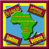 Multilingual African Languages Word Wall