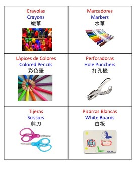 Multilingual (English, Chinese, Spanish) Art Labels