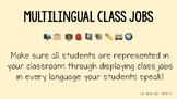 Multilingual Class Jobs (editable)