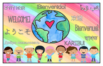 Multilingual Classroom Welcome Sign - Rainbow
