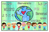 Multilingual Classroom Welcome Sign - Green