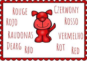 Multilingual Color Signs (European languages)