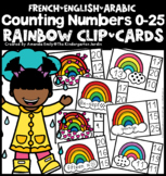 Multilingual Counting ClipCards 1-20 (Rainbow Themed)