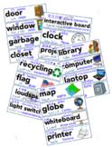 Multilingual ESL Classroom Supply Labels English Chinese Arabic Russian Spanish