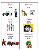 Multilingual (English, Chinese, Spanish) Dramatic Play Area Labels