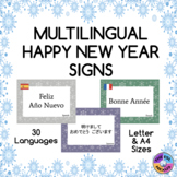 Multilingual Happy New Year Posters for Classroom Decor: S
