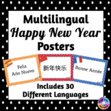 Multilingual Happy New Year Posters for Classroom Decor: P