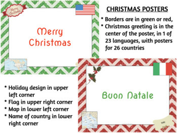 Multilingual Merry Christmas & Happy Hanukkah Posters