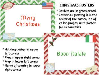 multilingual merry christmas happy hanukkah posters