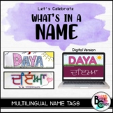 Multilingual Name Tags *Promote DIVERSITY and INCLUSION*