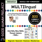 300 Multilingual Visual Labels   Distance Learning   Centers   Voice Record!