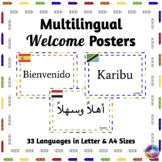 Multilingual Welcome Posters For Classroom Decor: Crayon Theme