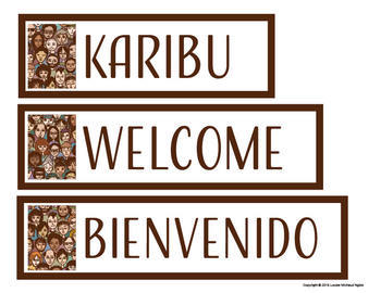 Multilingual Welcome Sign 15 Languages - Spanish Chinese Gujarati French Swahili