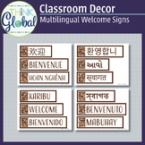 Multilingual Welcome Sign 15 Languages - Spanish Chinese G