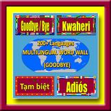 Multilingual Word Wall - GOODBYE