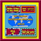 Multilingual Word Wall - HELLO