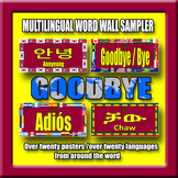 Multilingual Word Wall Sampler – Goodbye