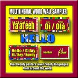 Multilingual Word Wall Sampler – Hello