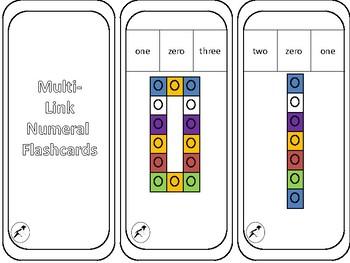 Multilink Numeral Peg Cards 0-10
