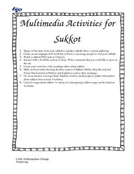 Multimedia Activties for Sukkot