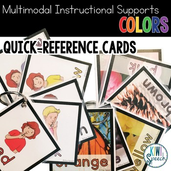 Multimodal Instructional Supports for Basic Vocabulary: COLORS