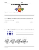 Multipication Assessment