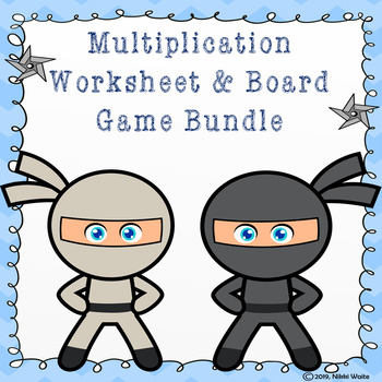 Multipication Bundle: Worksheets and Board Game