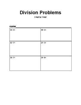 Multiplcation & Division Worksheets