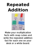 Multiplcation Station Instruction Cards - Editable