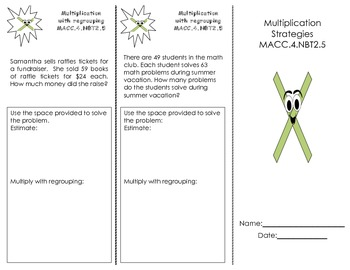 Multiplication Strategies Trifold