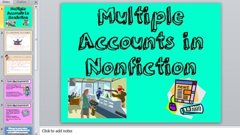 Multiple Accounts in nonfiction