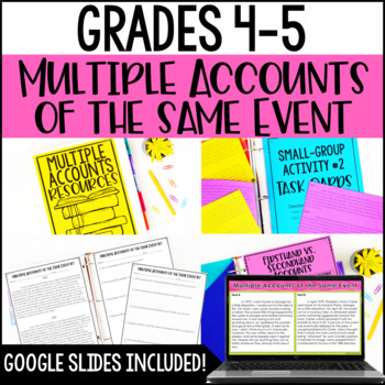 Multiple Accounts of the Same Event Passages and Activities | RI.4.6 and RI.5.6