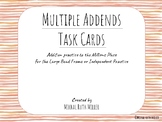 Multiple Addends Task Cards