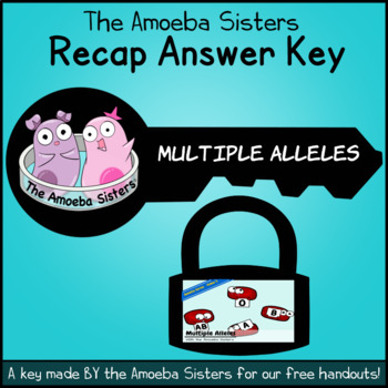 Multiple Alleles (ABO Blood Types) Answer Key by The Amoeba Sisters