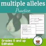 Genetics: Multiple Alleles Worksheet