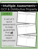 Multiple Assessment forms for GCF and Distributive Property - 6.NS.4