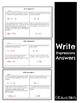 Multiple Assessment forms for Write Expressions - 6.NS.2a