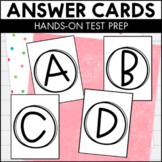Multiple Choice Answer Cards for Hands On Test Prep