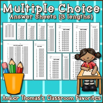 Bubble Answer Sheets Teaching Resources | Teachers Pay Teachers