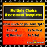 Multiple Choice Assessment Templates