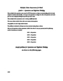Multiple Choice Assessments - Grade 4 - Operations and Alg