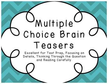 Multiple Choice Brain Teasers