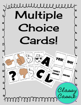 Multiple Choice Cards