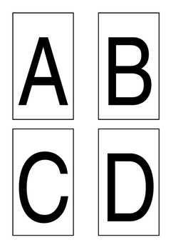 Multiple Choice Cards