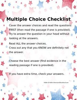 Multiple Choice Checklist